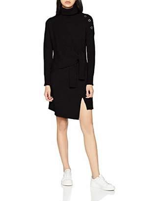 6bd1a73558c at Amazon.co.uk · Karen Millen Women's Tie Front Split Tunic Slim Fit Plain  Turtleneck Long Sleeve Jumper,8