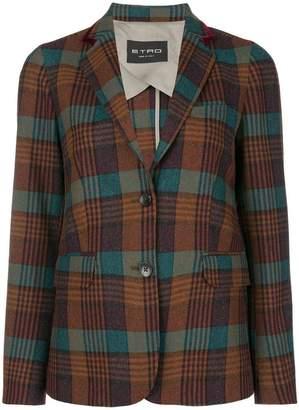 Etro plaid tailored blazer