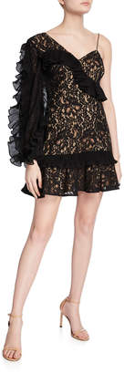 Keepsake Timeless Lace Ruffle Mini Dress
