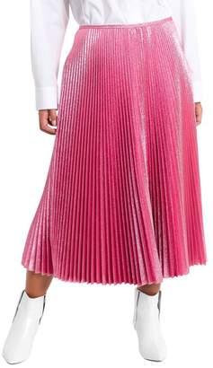 Cédric Charlier Midi Poodle Skirt In Lurex