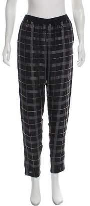 Nicole Miller Silk Mid-Rise Pants