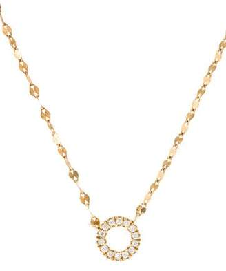 Lana 14K Diamond Circle Charm Necklace