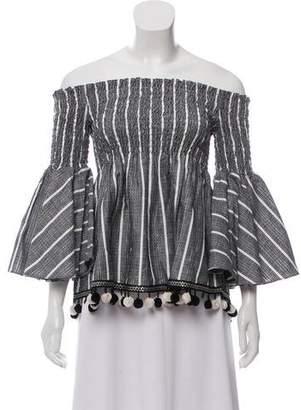 Caroline Constas Striped Long Sleeve Top