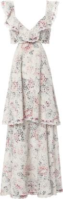 Zimmermann Jasper Honeycomb Tiered Floral Dress $1,100 thestylecure.com