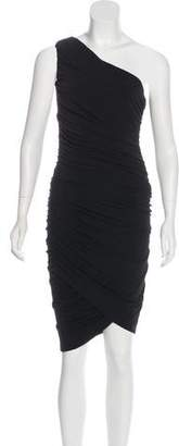 Alice + Olivia One-Shoulder Ruched Dress w/ Tags