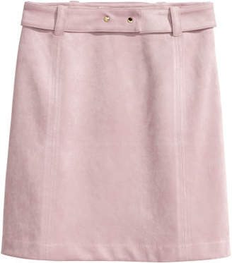 H&M Faux Suede Skirt - Pink