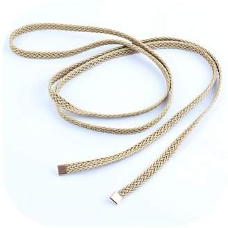primerry Fashion ( Hand-woven Cotton Thread ) Metal Decoration Waist Rope Belt