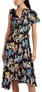 Jason Wu Women's Abstract-Floral Cotton Sateen Asymmetric Shirtdress