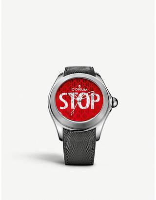 Corum L403/03249 Big Bubble 57 Stop titanium and rubber strap watch