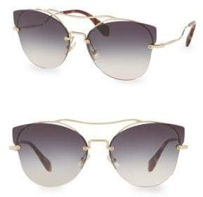 Miu Miu 62MM Butterfly Sunglasses