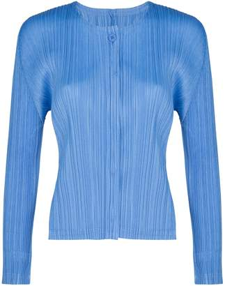 Pleats Please Issey Miyake Long Sleeves Cardigan