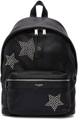 Saint Laurent Black Star Studded Mini City Backpack