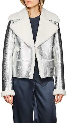 Sies Marjan Women's Foil Shearling Double-Breasted Coat