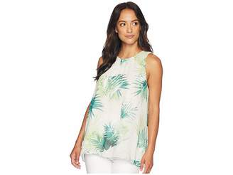 Vince Camuto Sleeveless Sunlit Palm Blouse Women's Blouse