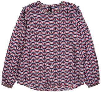 Pepe Jeans Graphic Print Blouse with Shoulder Ruffles