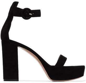 Gianvito Rossi black 105 platform sandals