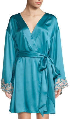 La Perla Short Silk-Blend Robe