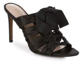 AVEC LES FILLES Janelle Satin Knot Sandals