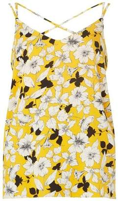 Dorothy Perkins Womens Ochre Floral Print Sport Camisole Top