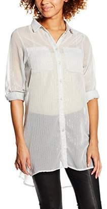 Vila Women's Vinilla Metallic L/S Longshirt Blouse (Pink Tint), S