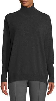 Agnona Eternals 12-Gauge Cashmere Geo-Slit Turtleneck Pullover Sweater