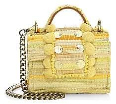 Kooreloo Women's Small Lollipops Embellished Basket-Weave Crossbody Bag