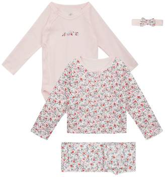 Petit Bateau Top and Trouser Set With Headband