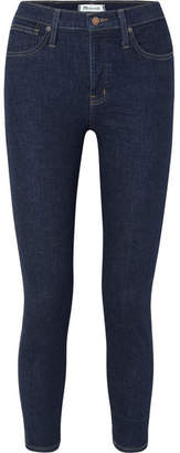 Madewell Cropped High-rise Skinny Jeans - Dark denim