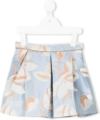 Hucklebones London magnolia print pleated skirt