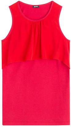 Jil Sander Navy Sleeveless Top with Silk