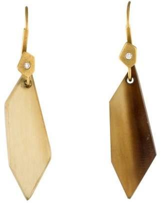 Monique Péan 18K Diamond & Horn Drop Earrings