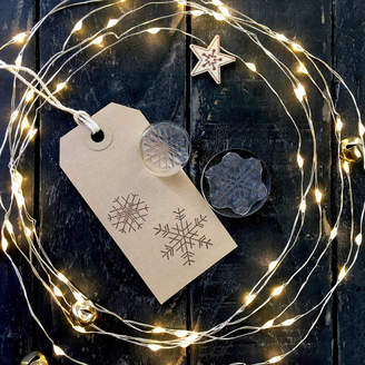 S.t.a.m.p.s. Little Stamp Store Set Of Two Snowflakes Crystal Clear