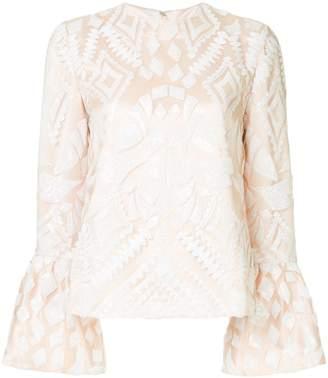 Huishan Zhang geometric pattern blouse
