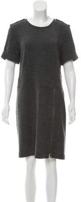 Burberry Knee-Length Wool Dress