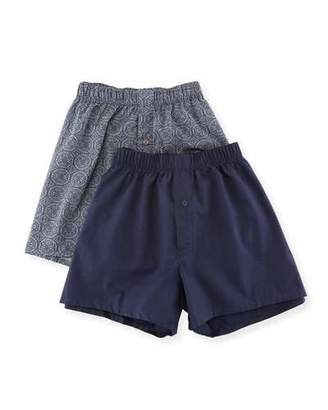 Hanro Fancy Woven Boxer 2-Pack Set $94 thestylecure.com