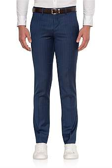Uber Stone Wool Flat Front Skinny Trouser