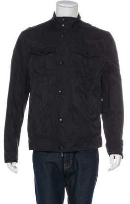 John Varvatos Coated Snap Jacket