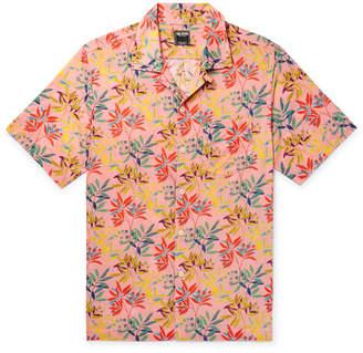 Todd Snyder + Liberty London Camp-collar Floral-print Cotton-poplin Shirt - Pink
