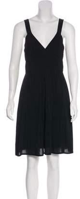 Theory Sleeveless Ruched Dress