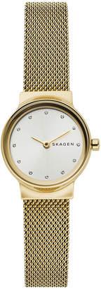 Skagen Women's Freja Gold-Tone Stainless Steel Mesh Bracelet Watch 26mm