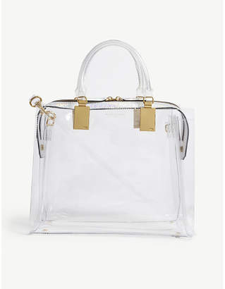 Kurt Geiger London Silver Transparent Tote Bag