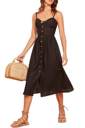 Reformation Thelma Linen Midi Dress