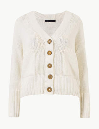 M S CollectionMarks and Spencer PETITE Textured V-Neck Cardigan 2ad65476f