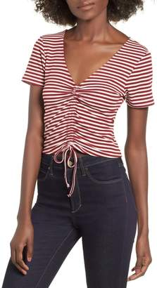 Mimichica Mimi Chica Stripe Ruched Tee