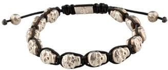 Shamballa Nialaya 925 Sterling Silver Skullbead Bracelet