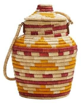 MANGO Multicolor raffia bag