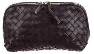 8dec27750a Bottega Veneta Intrecciato Leather Cosmetic Bag