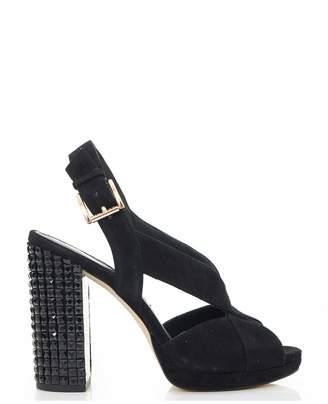 fbb0e88370b Michael Kors Becky Platform Studded Heel Shoes Colour  BLACK