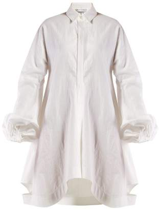 J.W.Anderson Balloon Sleeve Cotton Shirtdress - Womens - White