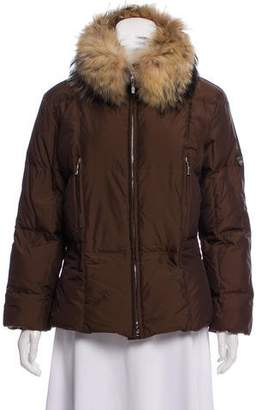 Post Card Fur-Trimmed Puffer Coat